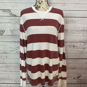 AMERICAN EAGLE STRIPED THERMAL LONG SLEEVE SHIRT